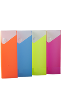 PENCIL BOX GLOW TWO-TONE POLY ASST 2.5X8IN