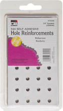 REINFORCEMENT LABELS .25DIA 544CT WHITE SELF-ADHESIVE