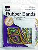 RUBBER BANDS AST SIZE/COLORS
