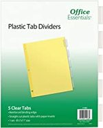 DIVIDERS 5 TAB CLEAR