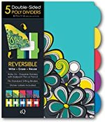 Dividers poly 5 tab fashion