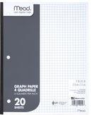 Paper Graph Filler 4X4 Quad Rule 20 SHT 8.5X11