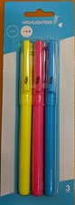 HIGHLIGHTER 3PK PEN STYLE ASST COLOR