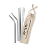STRAW REUSABLE STAINLESS STEEL SET